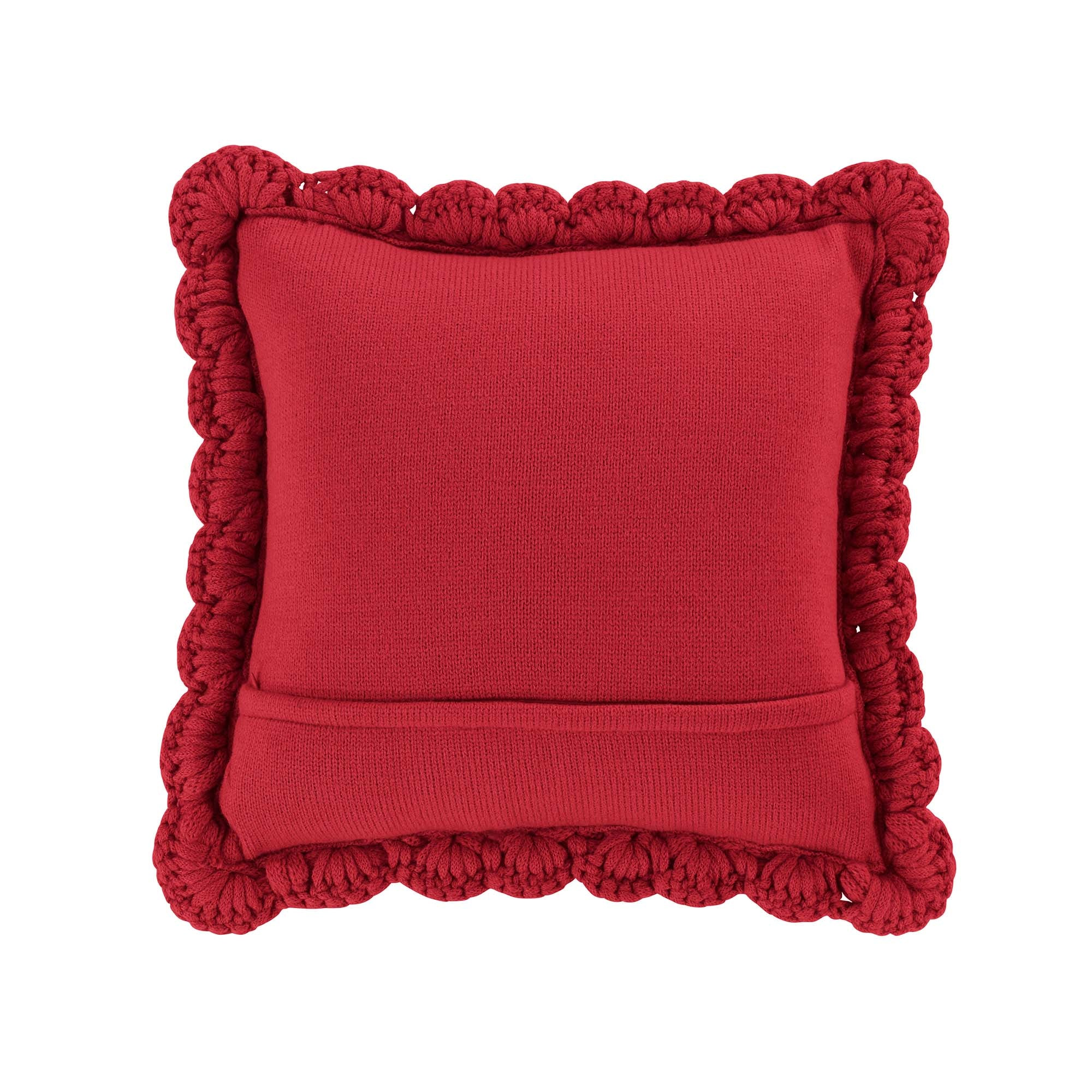Chunky Knitted Red Decorative Pillow [Luxury comforter Sets] [by Latest Bedding]