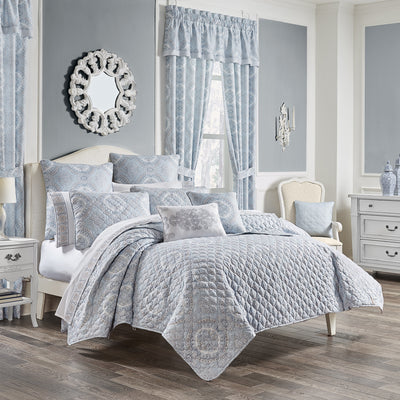 Claremont Blue 3-Piece Quilt Set Quilt Sets By J. Queen New York