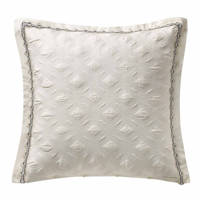 Clarissa Blue Quilted Geometric Euro Sham [Luxury comforter Sets] [by Latest Bedding]