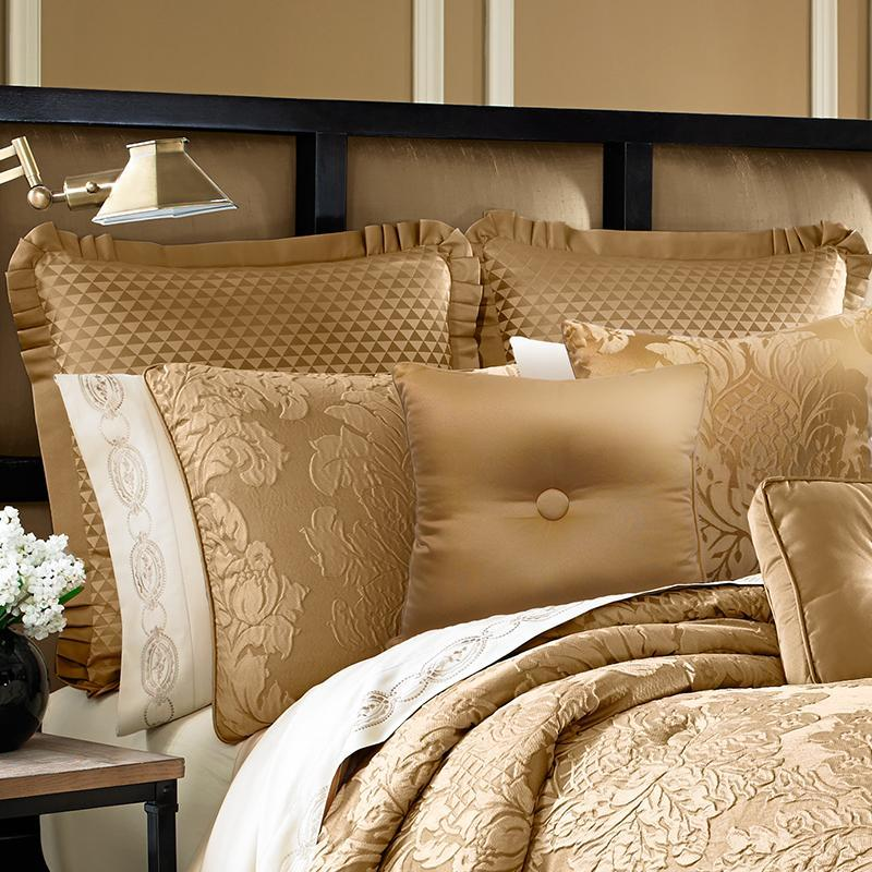 Colonial Gold 4-Piece Comforter Set Comforter Sets By J. Queen New York