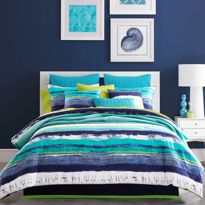 Cordoba Teal 4-Piece Comforter Set Comforter Sets By J. Queen New York
