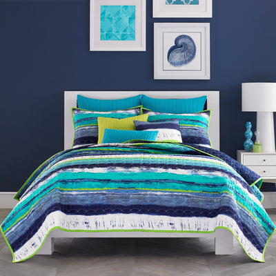 Cordoba Teal Coverlet Coverlet By J. Queen New York