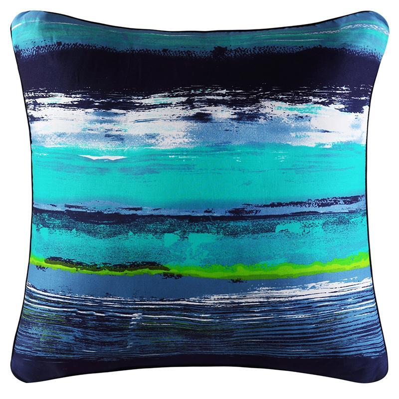 Cordoba Teal Square Decorative Throw Pillow Throw Pillows By J. Queen New York