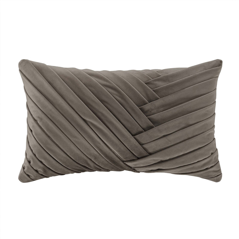 "Cracked Taupe Ice Boudoir Throw Pillow 12"" X 21"" [Luxury comforter Sets] [by Latest Bedding]"
