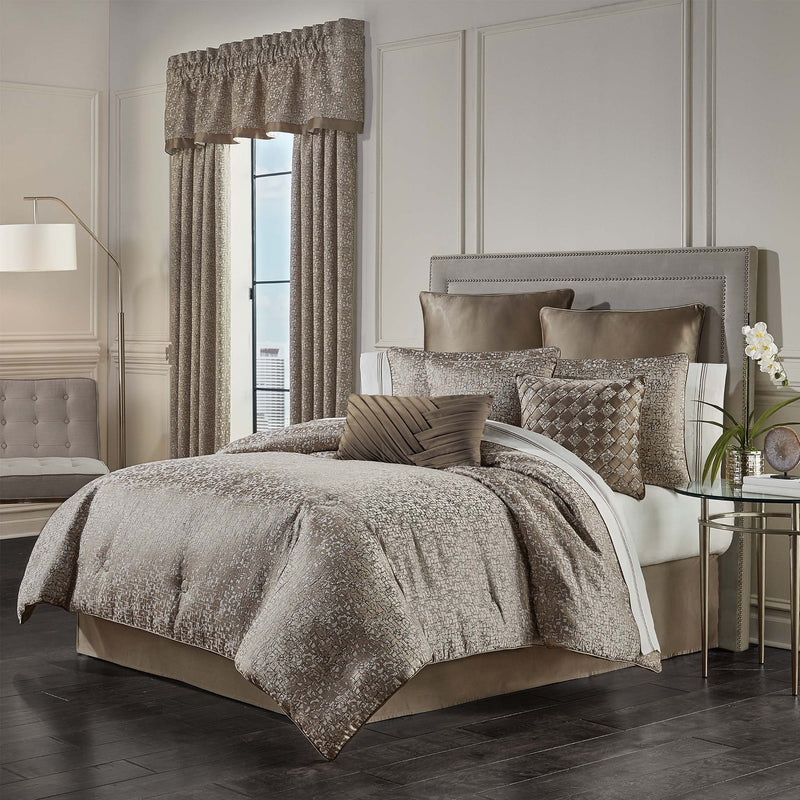 Cracked Taupe Ice Comforter Set [Luxury comforter Sets] [by Latest Bedding]