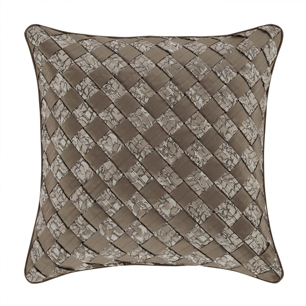 "Cracked Taupe Ice Throw Pillow 18"" X 18"" [Luxury comforter Sets] [by Latest Bedding]"