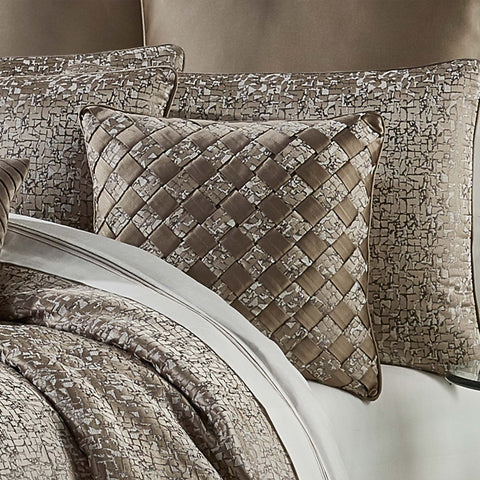 "Cracked Taupe Ice Throw Pillow 20"" X 20"" [Luxury comforter Sets] [by Latest Bedding]"