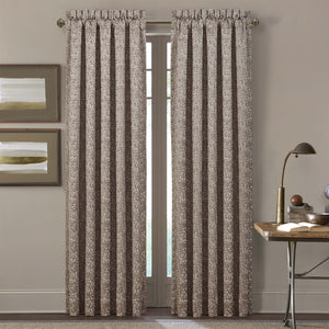 Cracked Taupe Ice Window Panel Pair [Luxury comforter Sets] [by Latest Bedding]