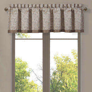 Cracked Taupe Ice Window Valance [Luxury comforter Sets] [by Latest Bedding]