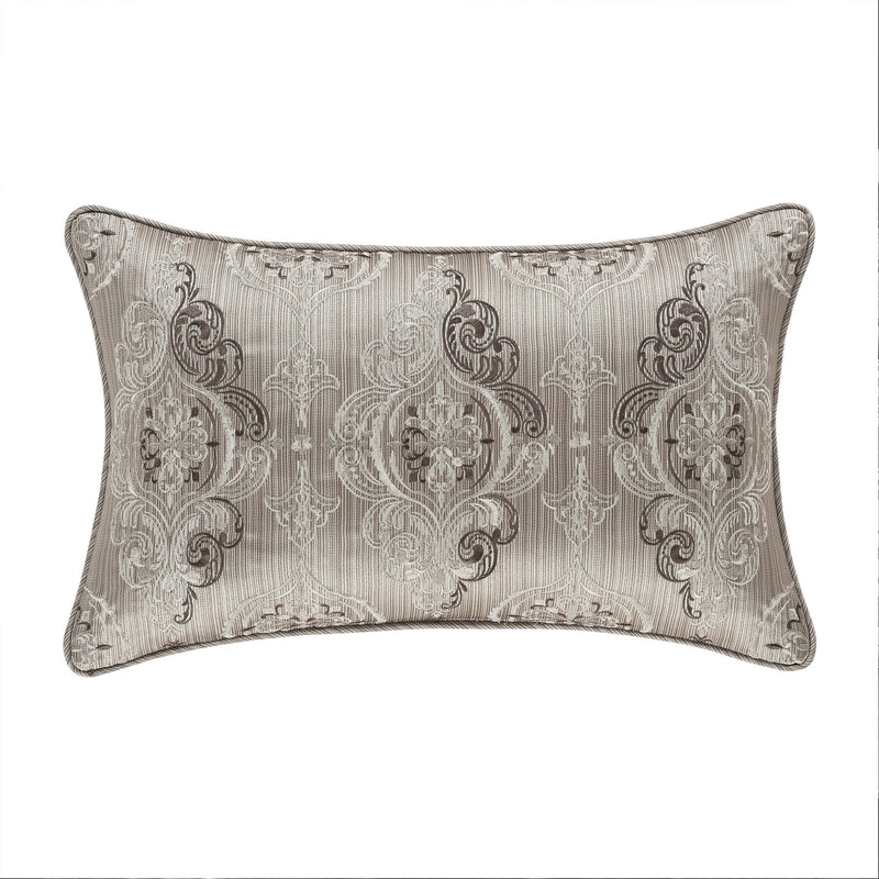 "Crestview Silver Boudoir Throw Pillow 14"" X 22"" [Luxury comforter Sets] [by Latest Bedding]"