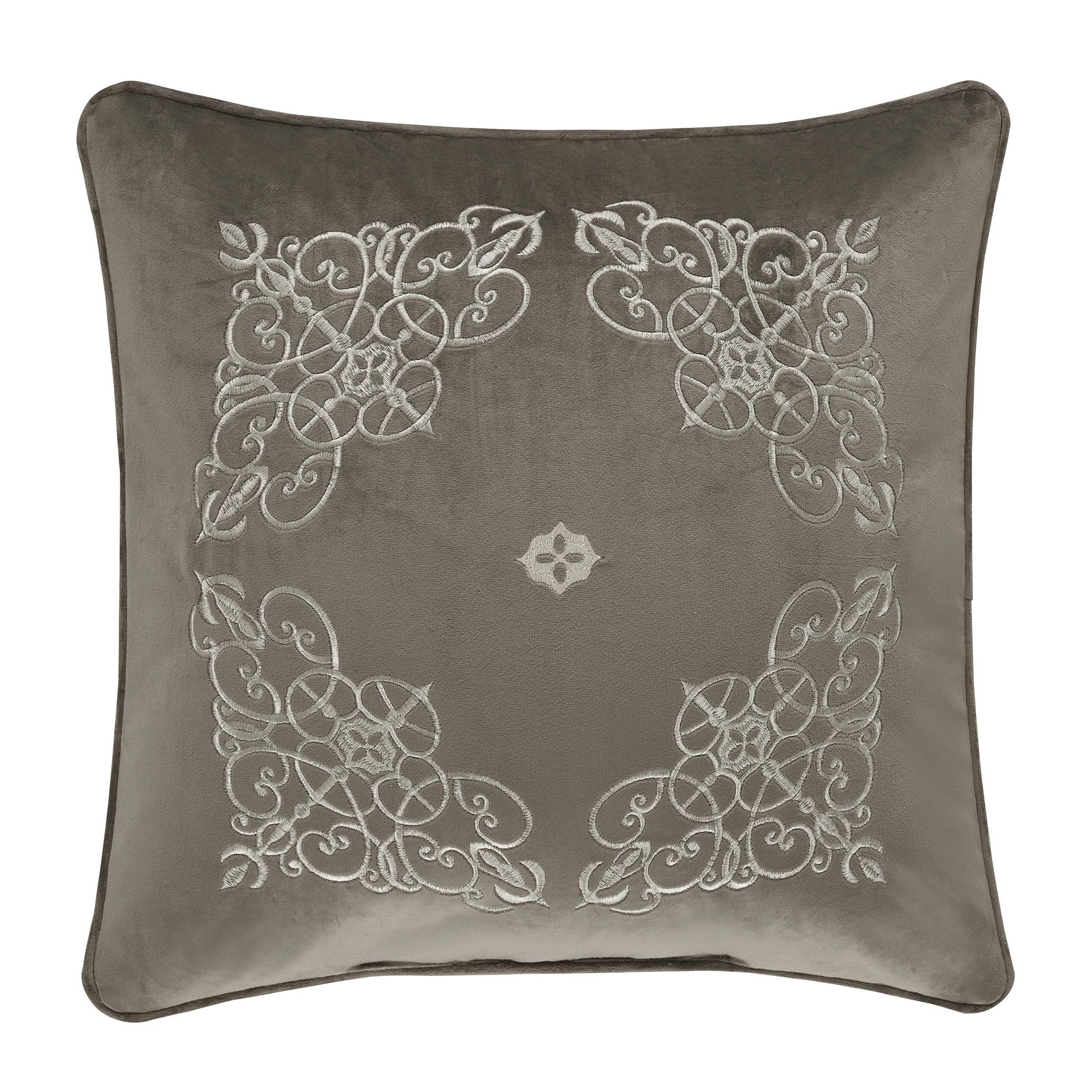 "Crestview Silver Throw Pillow 18""W x 18""L"" [Luxury comforter Sets] [by Latest Bedding]"