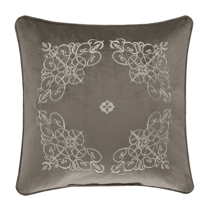 "Crestview Silver Throw Pillow 18""W x 18""L"""
