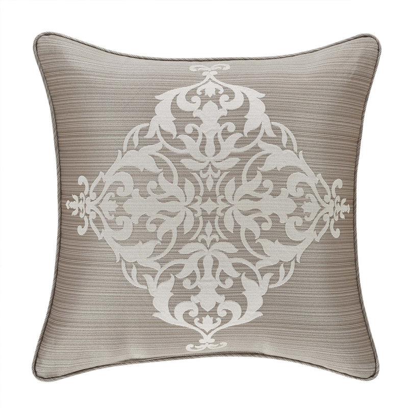 "Crestview Silver Throw Pillow 20"" X 20"" [Luxury comforter Sets] [by Latest Bedding]"