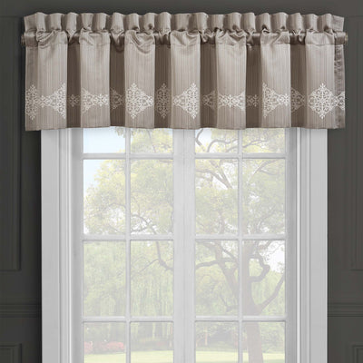 Crestview Silver Window Valance [Luxury comforter Sets] [by Latest Bedding]