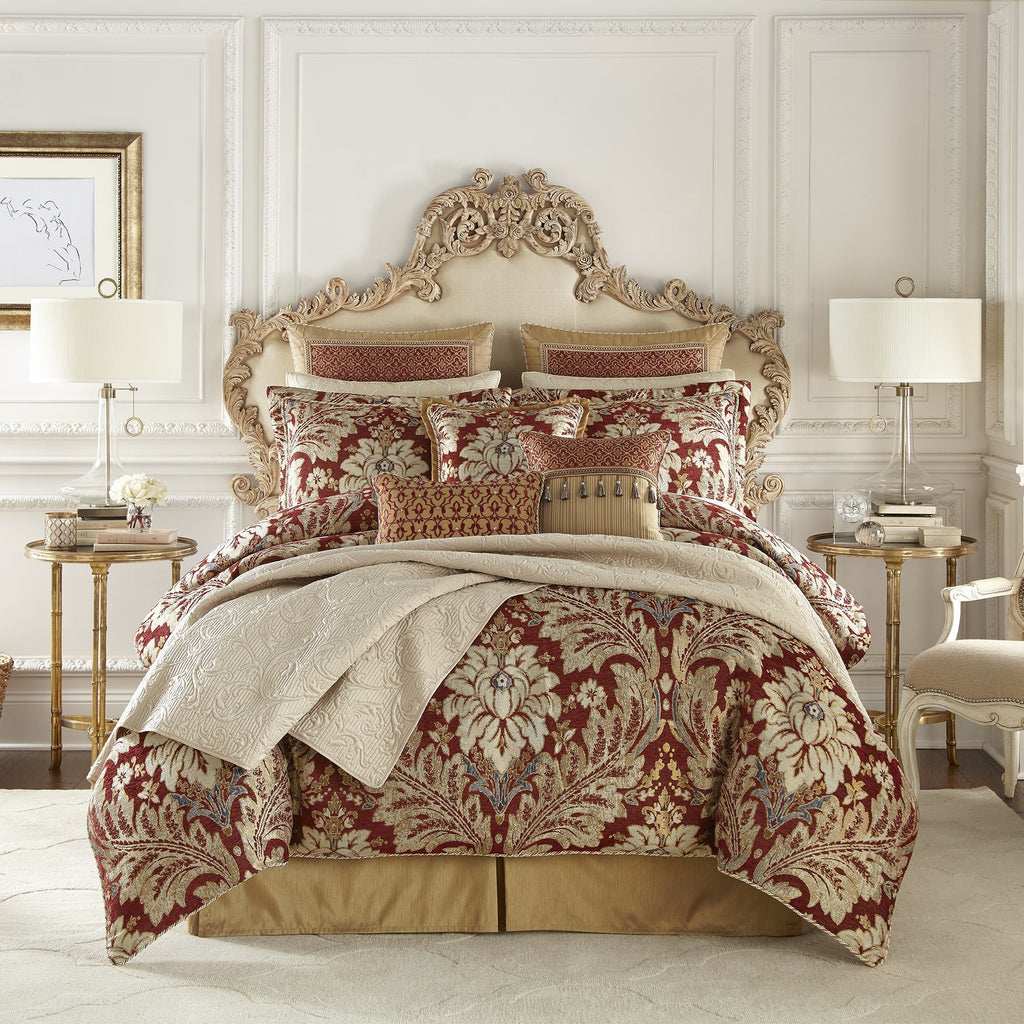 Arden Red 4-Piece Comforter Set By Croscill [Luxury comforter Sets] [by Latest Bedding]