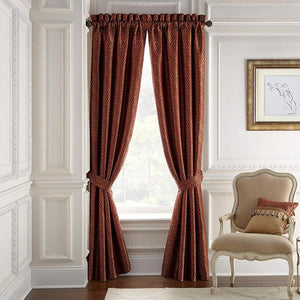 Arden Red Window Panels By Croscill [Luxury comforter Sets] [by Latest Bedding]