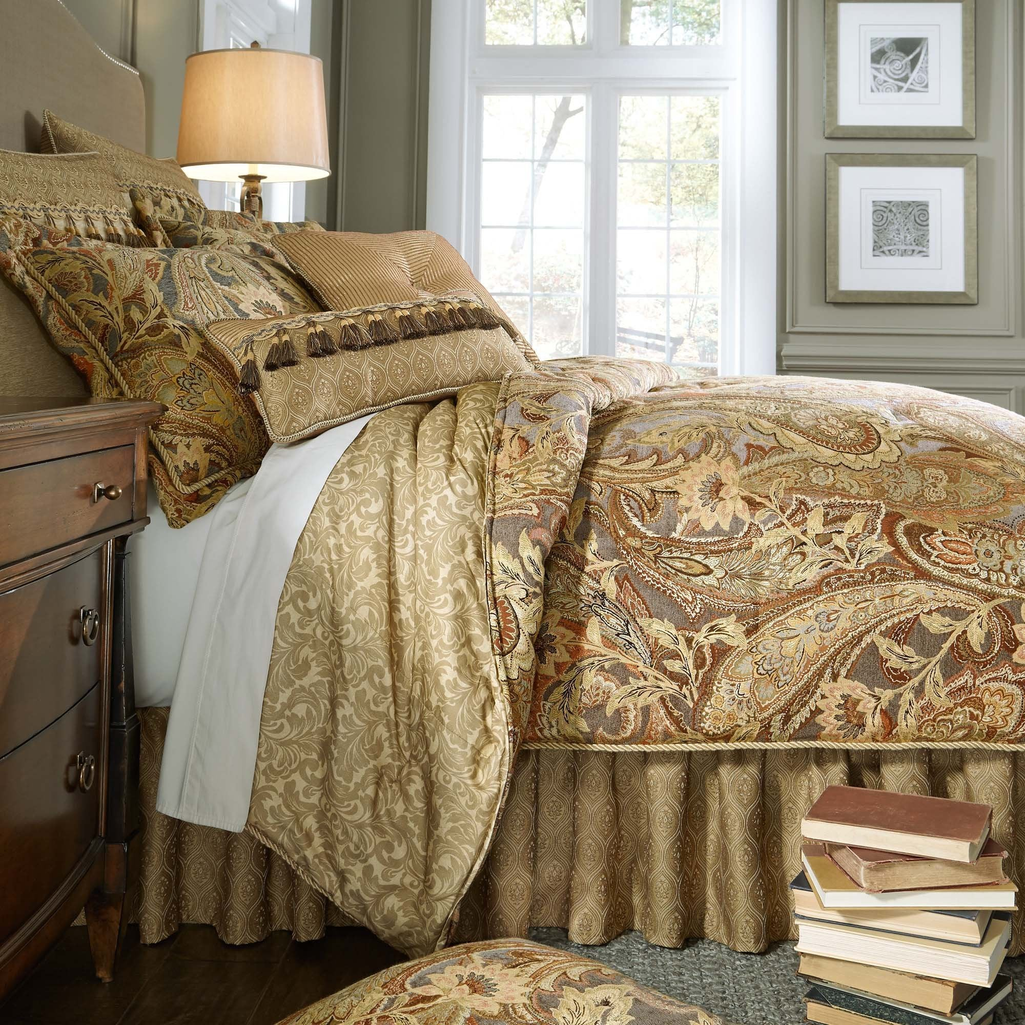 Ashton Multi 4-Piece Comforter Set By Croscill [Luxury comforter Sets] [by Latest Bedding]