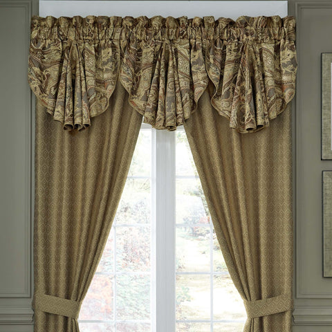 Ashton Multi Circle Window Valance By Croscill [Luxury comforter Sets] [by Latest Bedding]