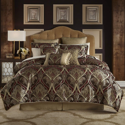 Bradney Red 4-Piece Comforter Set By Croscill [Luxury comforter Sets] [by Latest Bedding]
