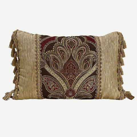 Throw Pillows Croscill Bradney Red Boudoir Pillow [Luxury comforter Sets) ( by Latest Bedding)]