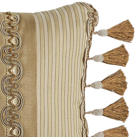 Throw Pillows Croscill Esmeralda Bodeaux Boudior Pillow [Luxury comforter Sets) ( by Latest Bedding)]