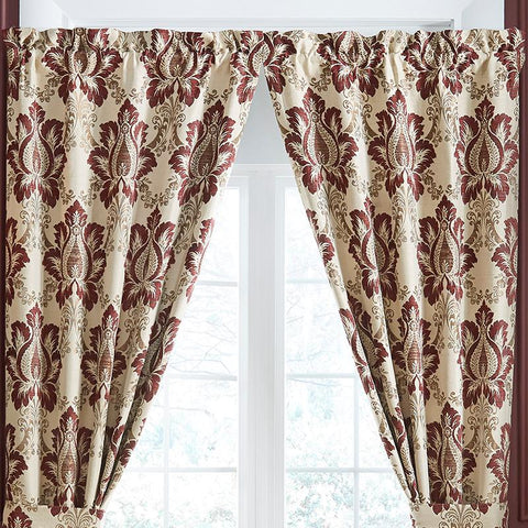 Window Panels Croscill Esmeralda Bodeaux Curtain Panel Pair [Luxury comforter Sets) ( by Latest Bedding)]