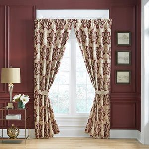 Esmeralda Bordeaux Curtain Panel Pair By Croscill [Luxury comforter Sets] [by Latest Bedding]