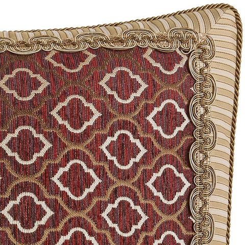 Euro Shams Croscill Esmeralda Bodeaux Euro Sham [Luxury comforter Sets) ( by Latest Bedding)]