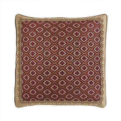 Esmeralda Bordeaux Euro Sham By Croscill Euro Shams By Croscill Home LLC