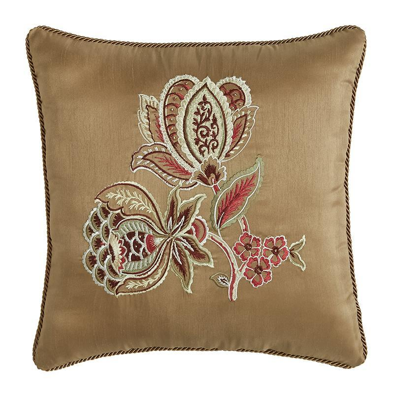 Throw Pillows Croscill Esmeralda Bodeaux Fashion Pillow [Luxury comforter Sets) ( by Latest Bedding)]