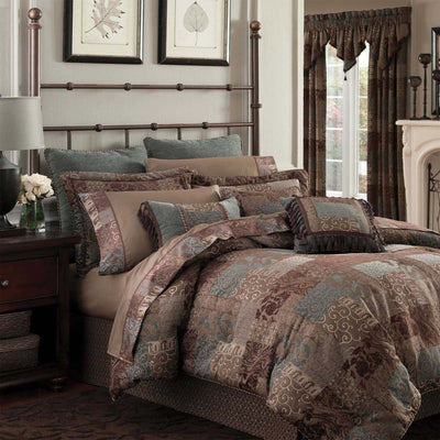 Galleria Brown 4-Piece Comforter Set By Croscill Comforter Sets By Croscill Home LLC
