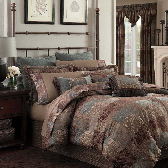 Galleria Brown 4-Piece Comforter Set By Croscill