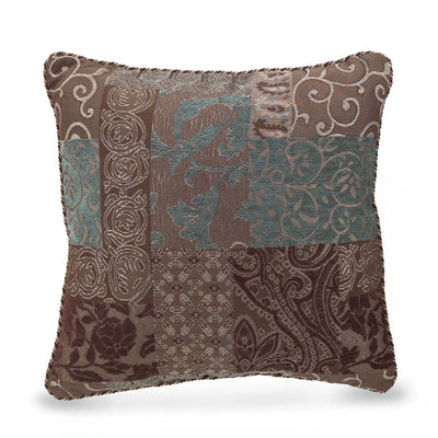 Galleria Brown Square Pillow By Croscill Throw Pillows By Croscill Home LLC