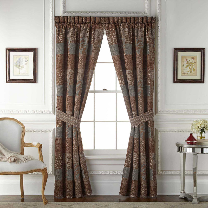 Galleria Brown Window Panel Pair By Croscill [Luxury comforter Sets] [by Latest Bedding]
