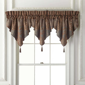 Galleria Brown Window Valance By Croscill [Luxury comforter Sets] [by Latest Bedding]