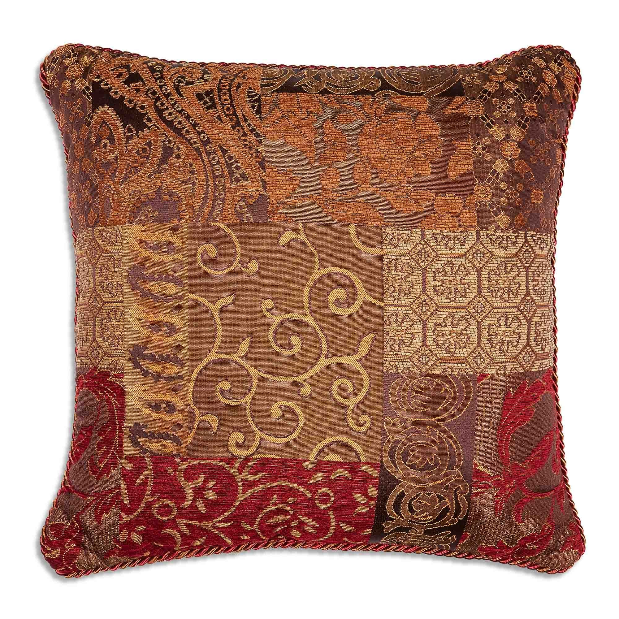 Galleria Red Square Pillow By Croscill [Luxury comforter Sets] [by Latest Bedding]