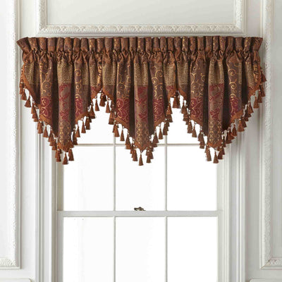 Galleria Red Window Valance By Croscill Window Valance By Croscill Home LLC