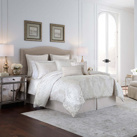 Kiarra White 4-Piece Comforter Set By Croscill [Luxury comforter Sets] [by Latest Bedding]