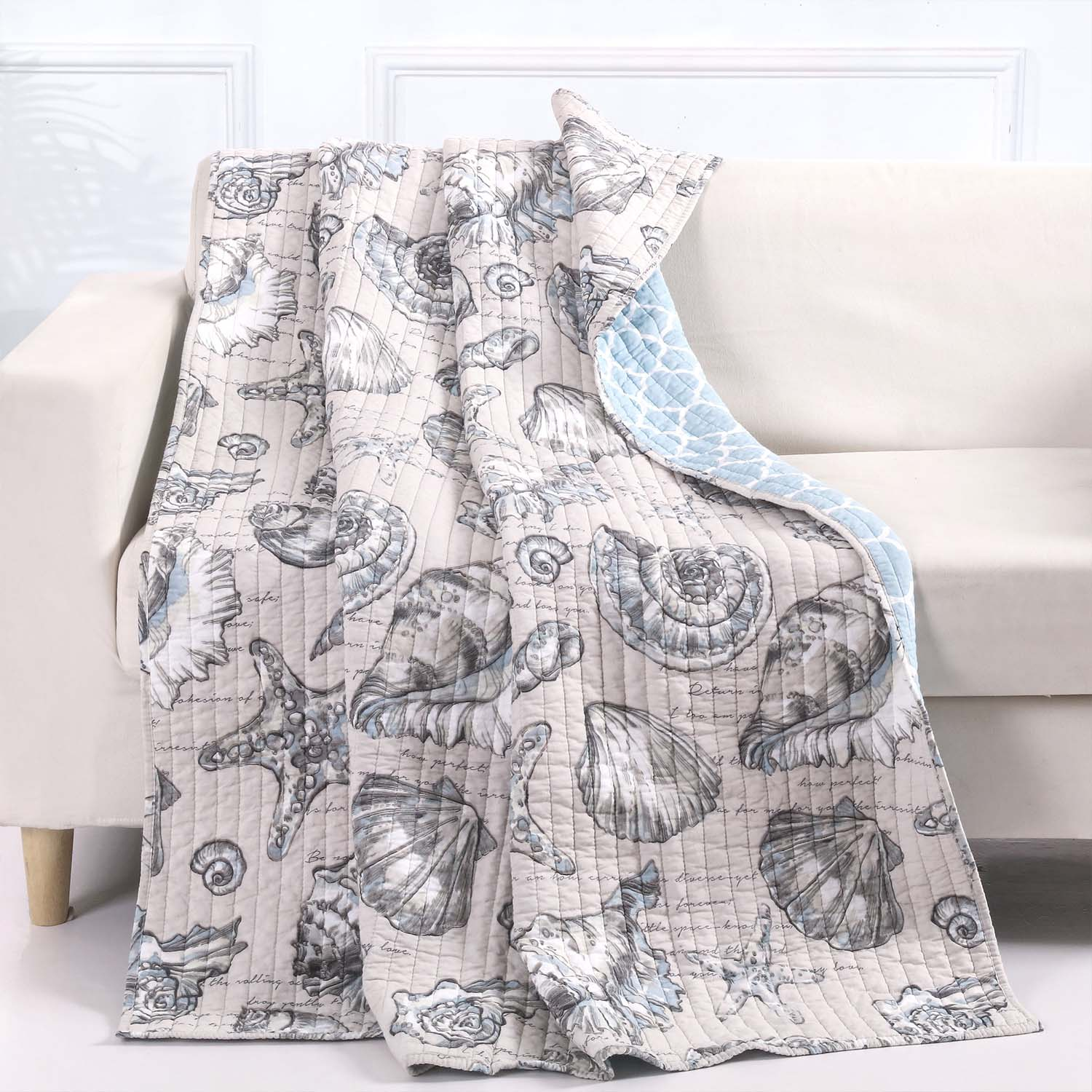Cruz Linen Throw Throws By Greenland Home Fashions
