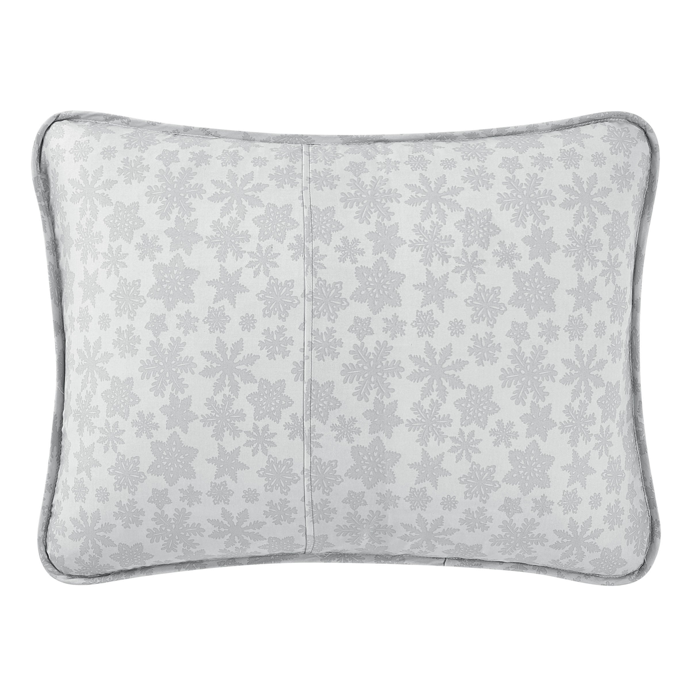Crystal Snowflake Silver 3-Piece Quilt Set [Luxury comforter Sets] [by Latest Bedding]