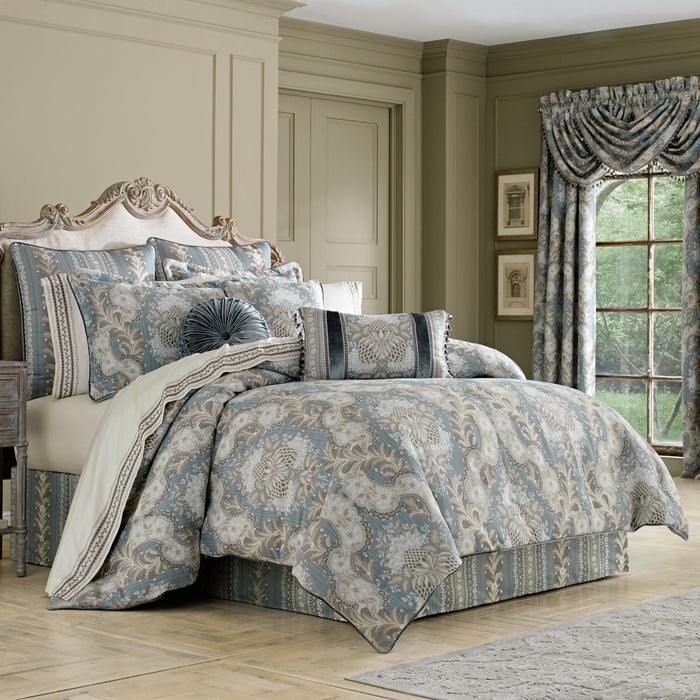 Crystal Palace French Blue 4-Piece Comforter Set