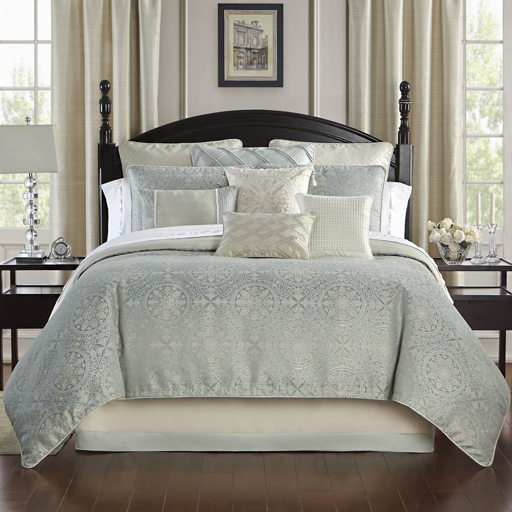 Daphne Jade Reversible 4-Piece Comforter Set [Luxury comforter Sets] [by Latest Bedding]