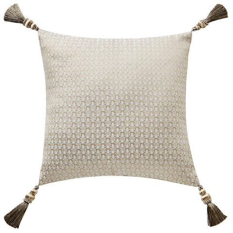 "Pillows Anora Brass/Jade Decorative Pillow 16"" x 16"" by Waterford Latest Bedding"
