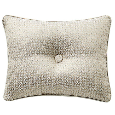 "Pillows Anora Brass/Jade Decorative Pillow 16"" x 20"" by Waterford Latest Bedding"