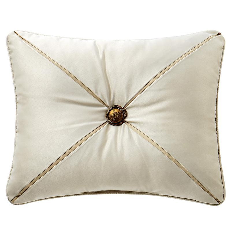 "Anora Brass/Jade Decorative Pillow 16"" x 20"" by Waterford [Luxury comforter Sets] [by Latest Bedding]"