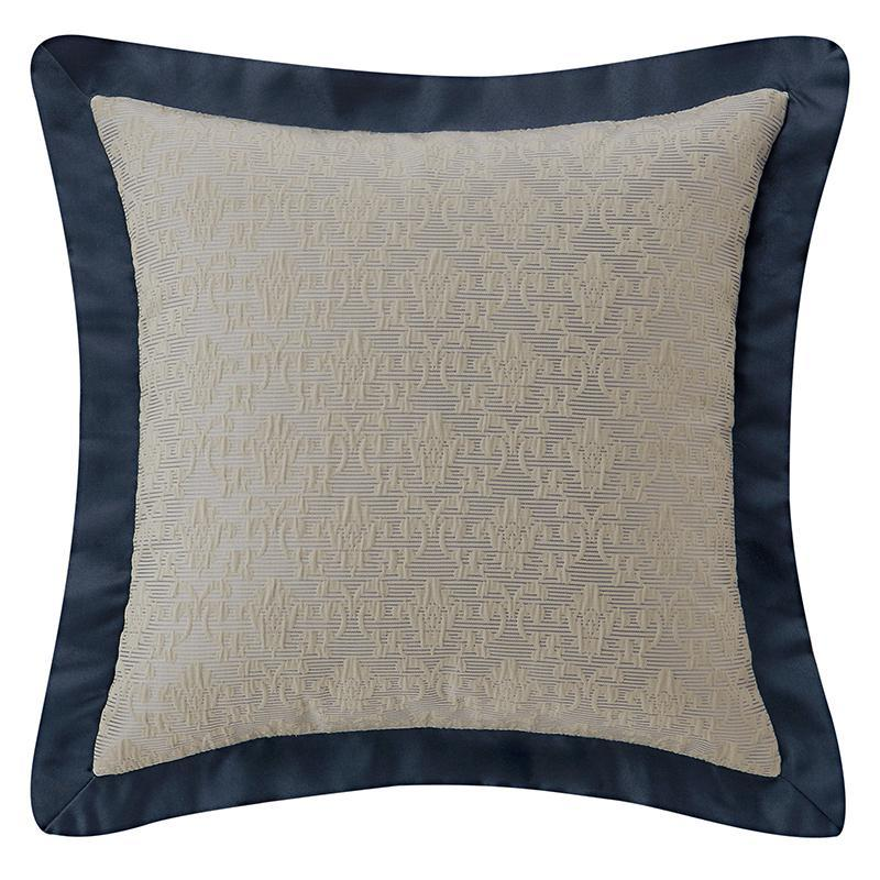 "Everett Teal Decorative Pillow 16"" x 16"" by Waterford [Luxury comforter Sets] [by Latest Bedding]"