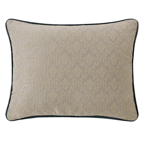 "Everett Teal Decorative Pillow 16"" x 20"" by Waterford [Luxury comforter Sets] [by Latest Bedding]"