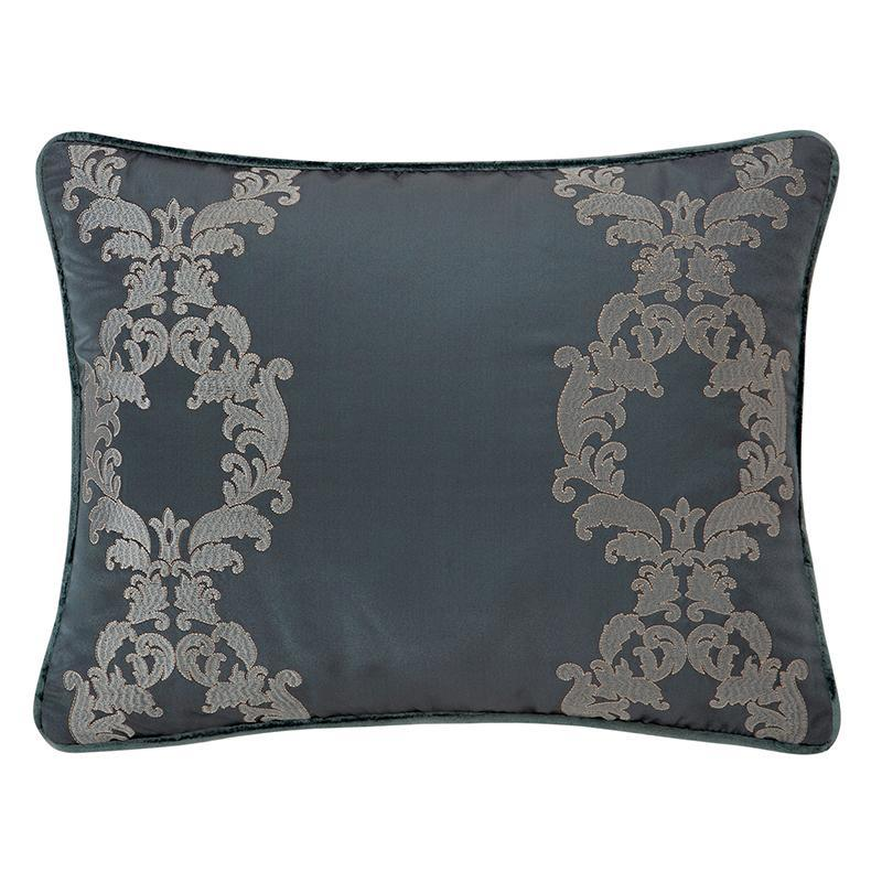 "Pillows Everett Teal Decorative Pillow 16"" x 20"" by Waterford Latest Bedding"