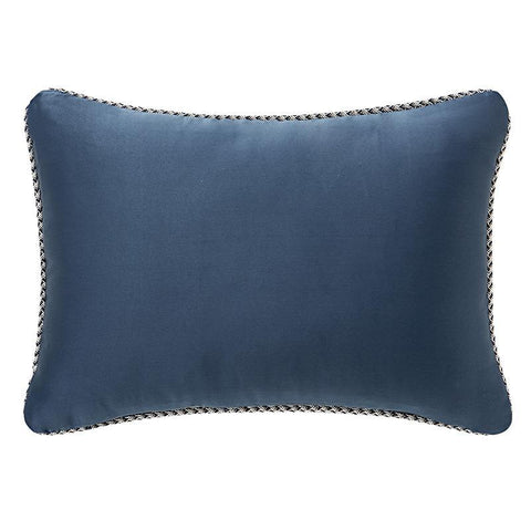"Jonet Indigo Decorative Pillow 12"" x 18"" by Waterford [Luxury comforter Sets] [by Latest Bedding]"