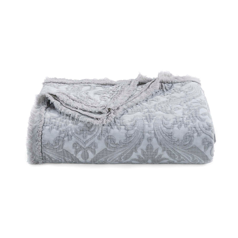 Damask Grey Throw [Luxury comforter Sets] [by Latest Bedding]